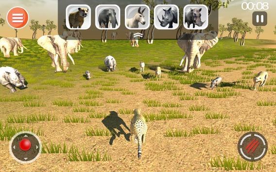 Cheetah Game 3D - Safari Animal Simulator screenshot 9