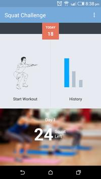 30 Day Squat Challenge poster