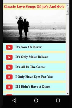 Classic Love Songs Of 50's & 60's apk screenshot
