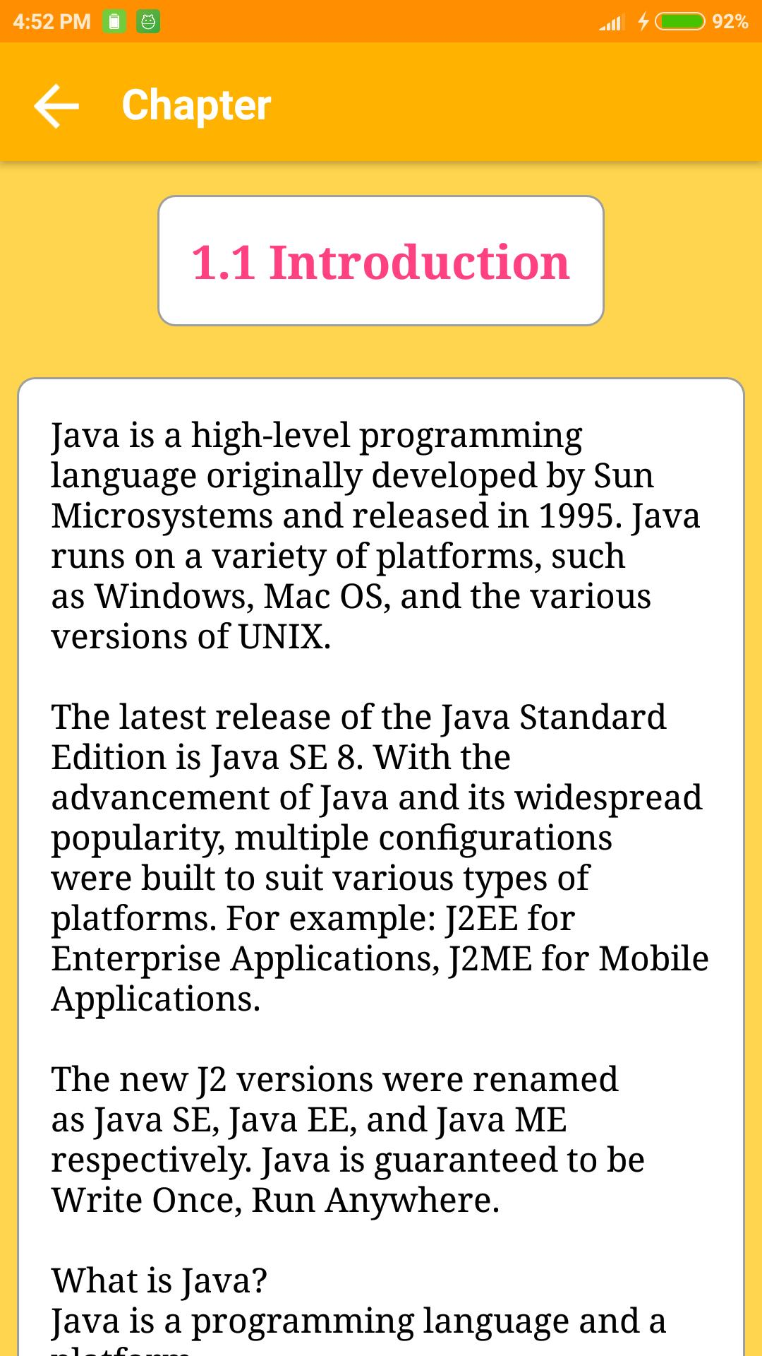 Java Tutorial And Programming for Android - APK Download