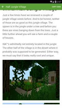 Seed for Minecraft PE Pro screenshot 2
