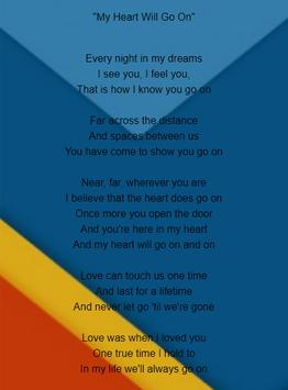 Celine Dion Lyrics screenshot 2