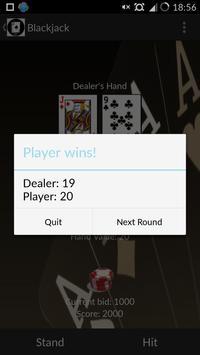 Pro Blackjack 21 Free apk screenshot