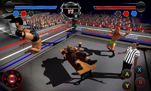 Wrestling Stars Revolution: Cage Free Death Match screenshot 1