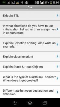 C++ Interview Q&A apk screenshot