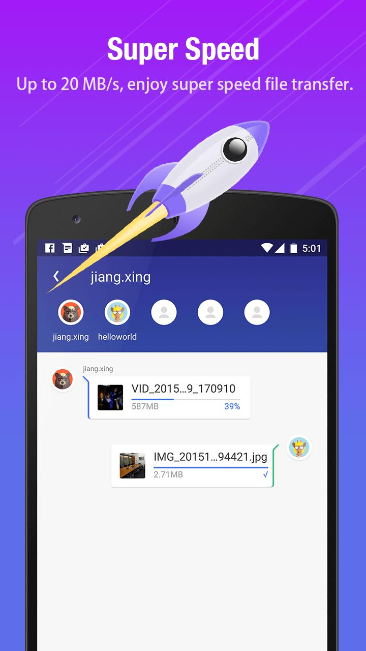 T Share Best File Transfer App For Android Apk Download