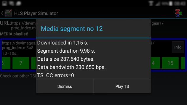 HLS Player Simulator FREE apk screenshot