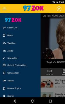 97ZOK - Today's Best Music (WZOK) apk screenshot