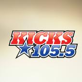 KICKS 105.5 - Today's Best Country - Danbury WDBY icon
