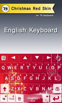 Christmas red for TS keyboard screenshot 1