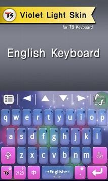 Violet light for TS Keyboard screenshot 1