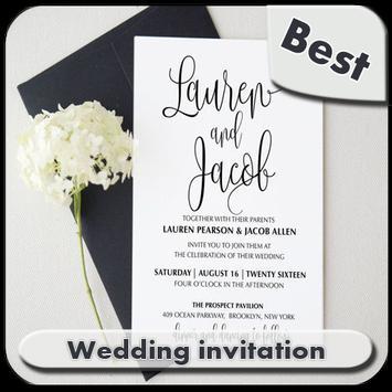 Wedding Invitation poster