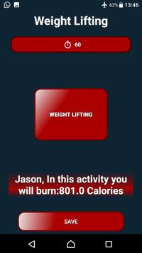 iCalorie - Calorie Burning Calculator screenshot 5
