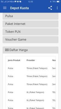 Depot Kuota - Pulsa & Paket Data Terlengkap apk screenshot