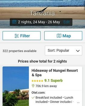 Booking Tanzania Hotels apk screenshot