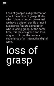 Loss of grasp poster