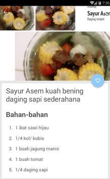 Resep Sayur Asem Bening screenshot 2
