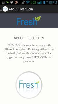 FreshCoin Wallet apk screenshot