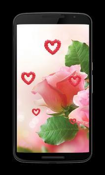 Pink rose Love Wallpapers screenshot 2