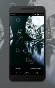 Diamond Hearts Wallpapers apk screenshot