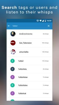 uWhisp - Radio Audio News apk screenshot