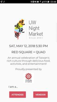 UW Night Market poster