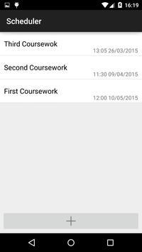 UWS Coursework Scheduler apk screenshot