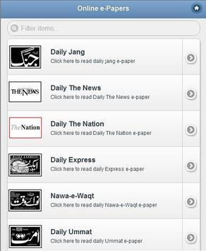 e-Newspapers apk screenshot