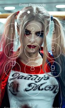 Harley Quinn Ultra HD Lock Screen poster