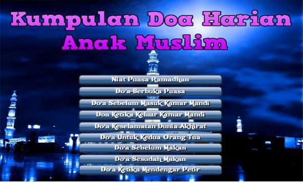Doa Harian Anak Muslim poster