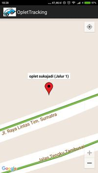 Oplet Tracker Pekanbaru apk screenshot