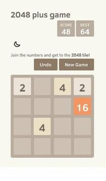 2048 plus game apk screenshot