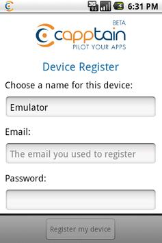 Capptain Device Register screenshot 1