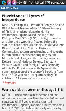 PinoyNews apk screenshot