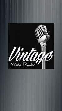 Vintage Web Radio poster