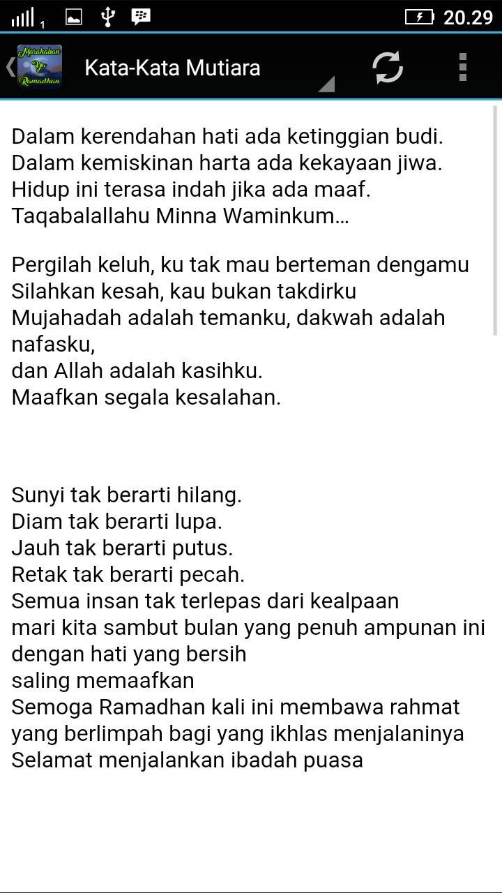 Kata Mutiara Sambut Ramadhan Für Android Apk Herunterladen