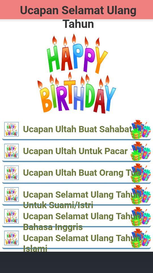 Ucapan Selamat Ulang Tahun For Android Apk Download