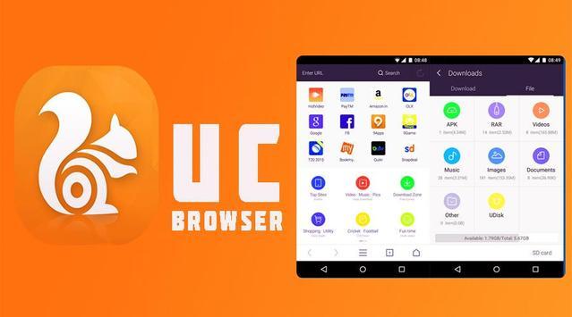 UC Browser app screenshot 1