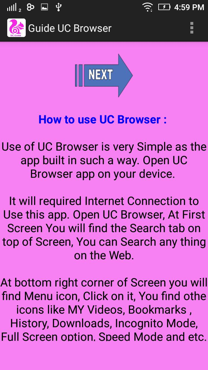 Guide UC Browser for Android - APK Download