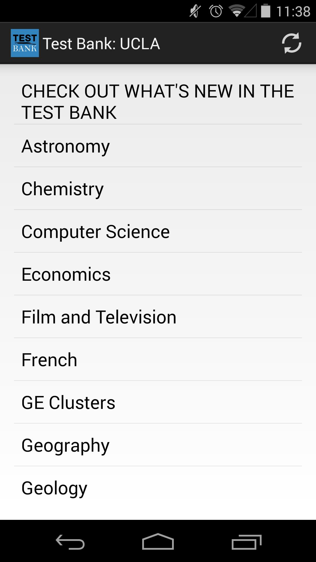 Test Bank: UCLA for Android - APK Download