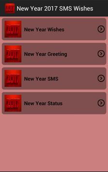 New Year 2017 SMS Wishes screenshot 1