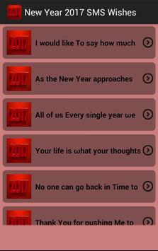 New Year 2017 SMS Wishes screenshot 2