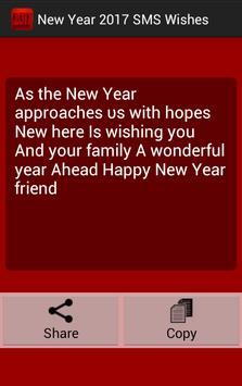 New Year 2017 SMS Wishes screenshot 3