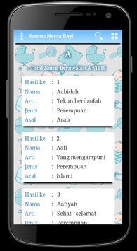 Kamus Nama Bayi poster
