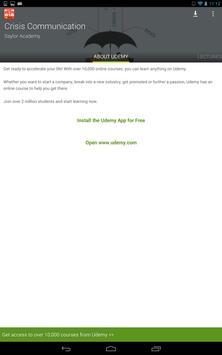 Crisis Communication Course screenshot 5