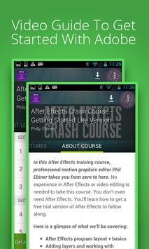 Udemy After Effects Course poster