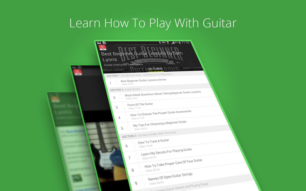 Guitar Lessons Apk Download Free Education App For Android The Secret Teacher Dounloadable Courses Beginners Screenshot