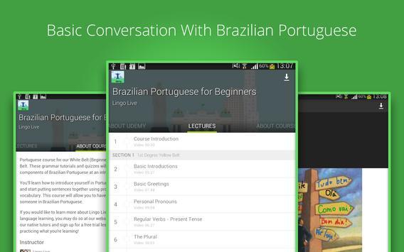 Learn Brazilian Portuguese screenshot 3