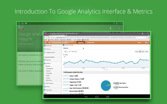 Google Analytics Training apk screenshot