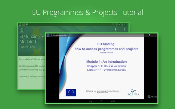 EU funding Course apk screenshot